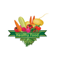 Healthy food sign food ingredient background vector