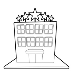 Hotel five stars icon outline style vector