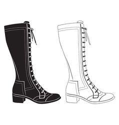 ladies shoes vector image