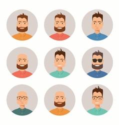 Men faces vector image vector image