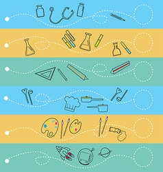 Occupations infographic vector