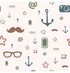 Pattern icon hipster vector