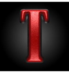 Red plastic figure t vector