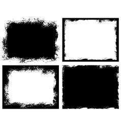 Set of grunge background Broken dirty rough vector image vector image