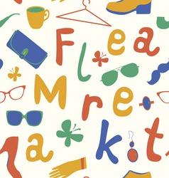 Summer market seamless pattern vector