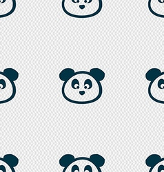 Teddy bear icon sign seamless pattern with vector