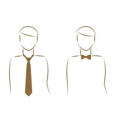 tie and bow tie vector image vector image