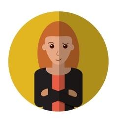 Woman leader job business cross arms shadow vector