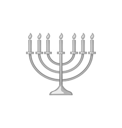 Menorah icon black monochrome style vector