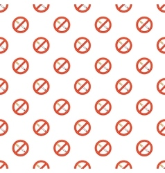 Smoking is prohibited pattern cartoon style vector