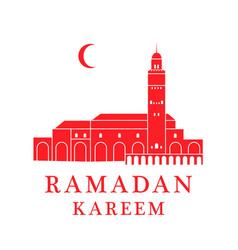 greeting card morocco vector image