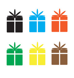 Set gift box on white background vector