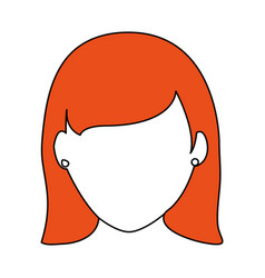 Sketch color silhouette faceless front view woman vector