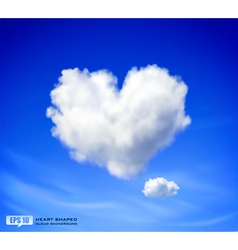 Heart shaped cloud vector