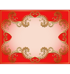 Ancient background framed gold vector