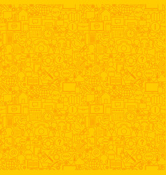 Yellow line contact us seamless pattern vector