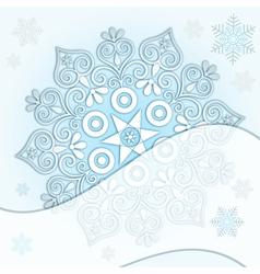 Delicate Christmas silver frame vector image