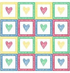 Paisley hearts pattern vector image