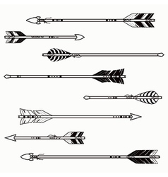set of ethnic arrows vector image