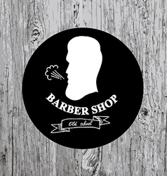 Barber shop label icon vector
