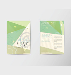 Abstract brochure flyer in a4 design vector