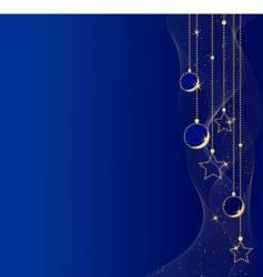 elegant christmas balls and stars vector image