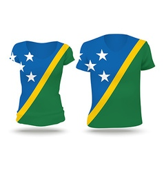 Flag shirt design of solomon islands vector
