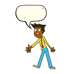 cartoon stressed man with speech bubble vector image