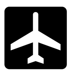 Air craft sign vector