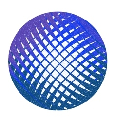 Blue abstract circle with lattice vector