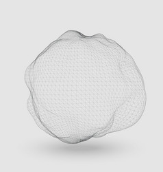abstract mesh distorted sphere vector image vector image