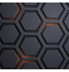 Background of carbon honeycombs vector