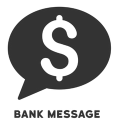 Bank message icon with caption vector
