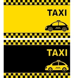 business card and retro taxi vector image