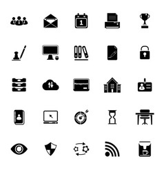 Business management icons on white background vector