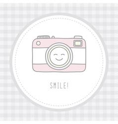 Camera card3 vector image