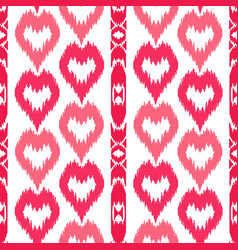 Ethnic striped pink seamless pattern vector