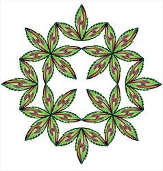 Floral leaves symmetry snake symbol vector
