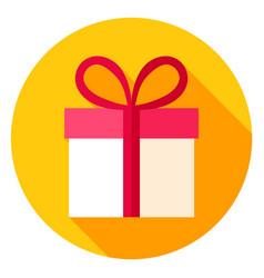 Gift box circle icon vector