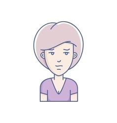 Girl avatar vector