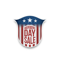 Independence day sale star-striped badge vector