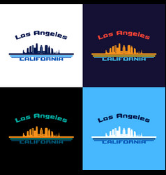 los angeles state california skyline vector image
