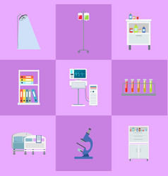 Medical equipment icons set vector