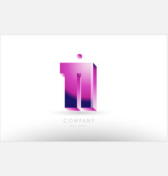Number 11 eleven black white pink logo icon design vector