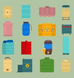 Oil drums container liquid cask storage vector