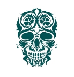 Ornamental art of a skull vector image vector image