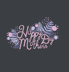 postcard with inscription happy mother s day vector image vector image
