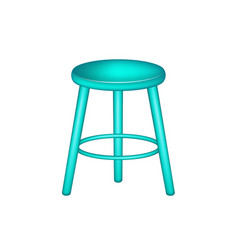 Retro stool in turquoise design vector