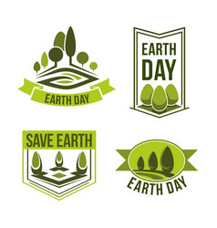 Save planet earth day green ecology icons vector