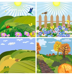 seasonal landscape vector image